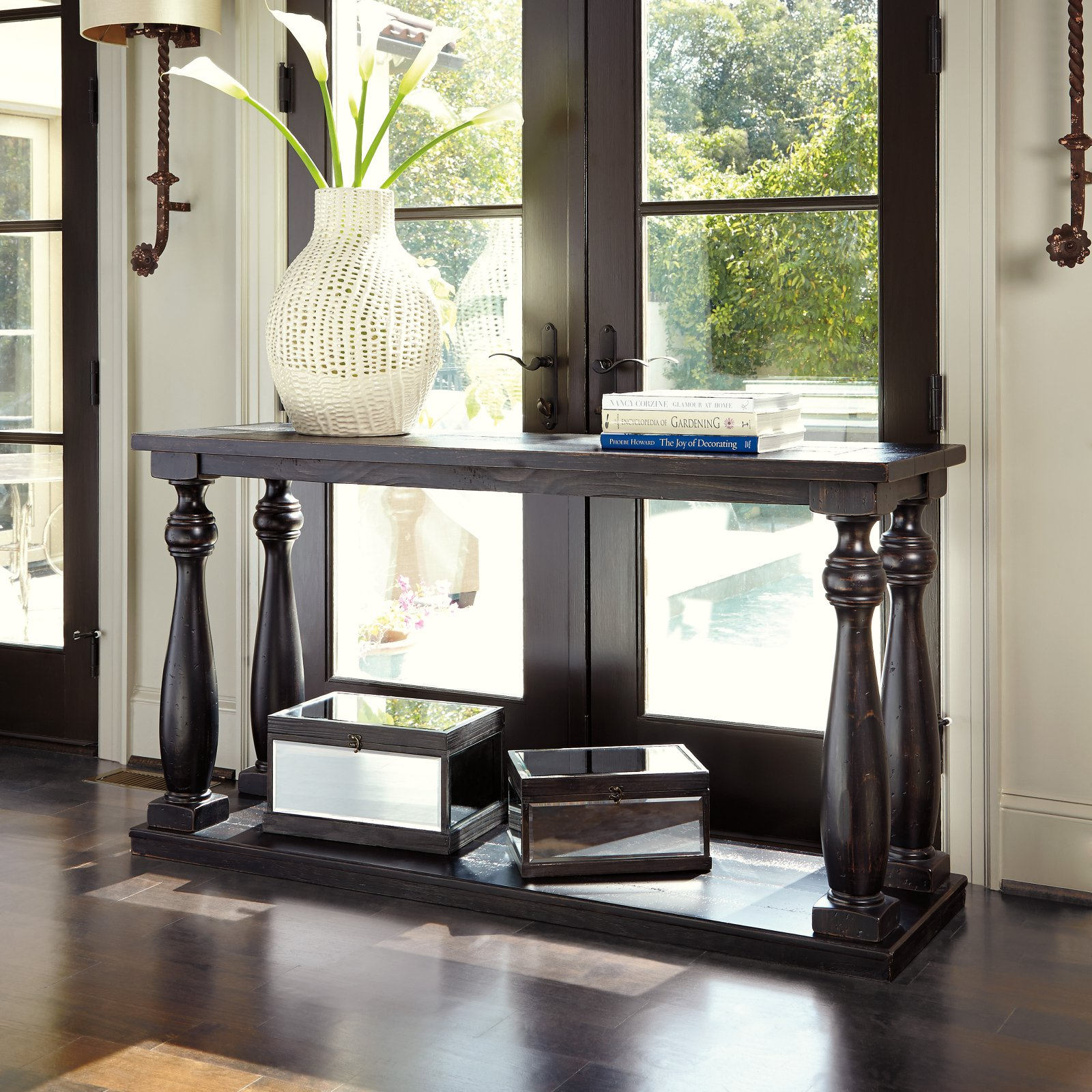 Captivating Signature Design By Ashley Mallacar Sofa Table