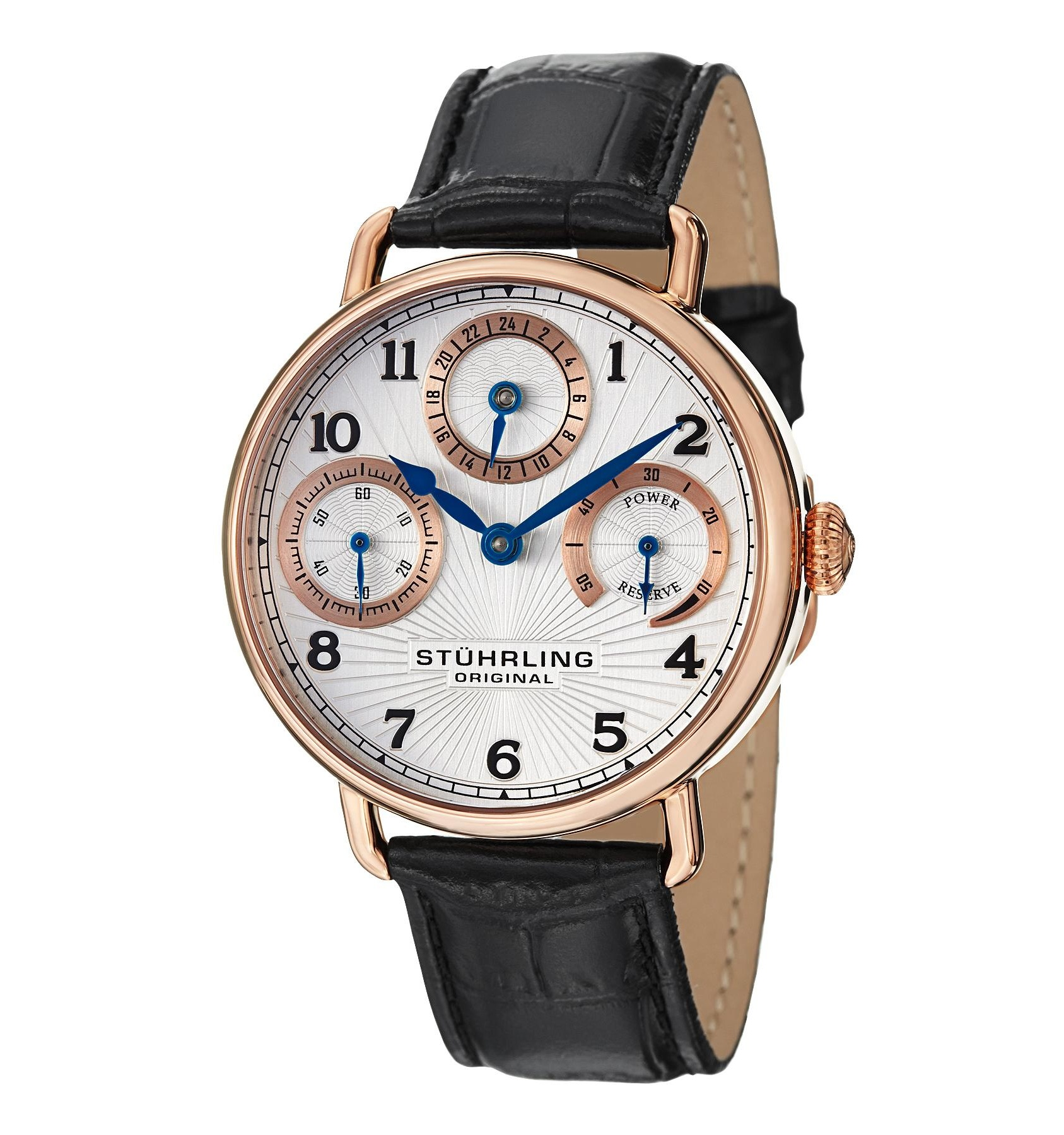 Stuhrling 467 33452 Coronate Mechanical Leather Strap Men's Watch