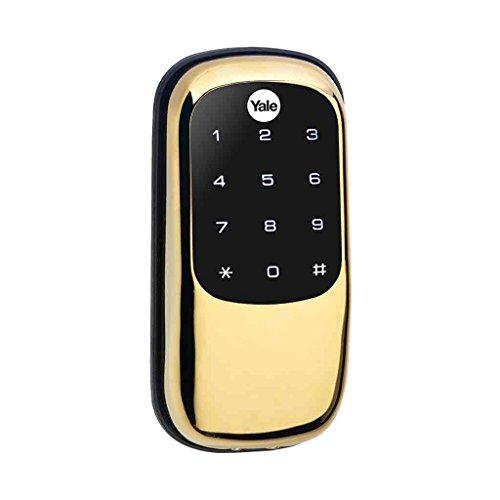 YALE REAL LIVING Electronic Keyless Deadbolt,Bright Bras YRD246HA605