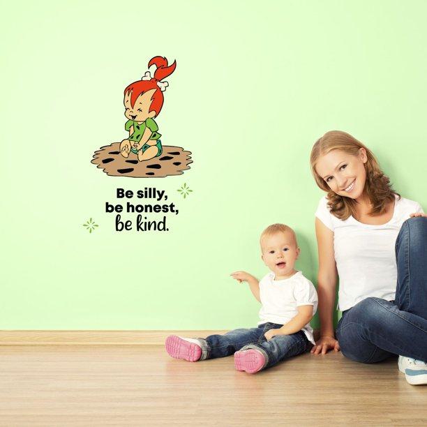 Be Silly Flintstones Life Quote Cartoon Quotes Decors Wall Sticker Art Design Decal For Girls Boys Kids Room Bedroom Nursery Kindergarten Home Decor Stickers Wall Art Vinyl Decoration 40x20 Inch Walmart Com
