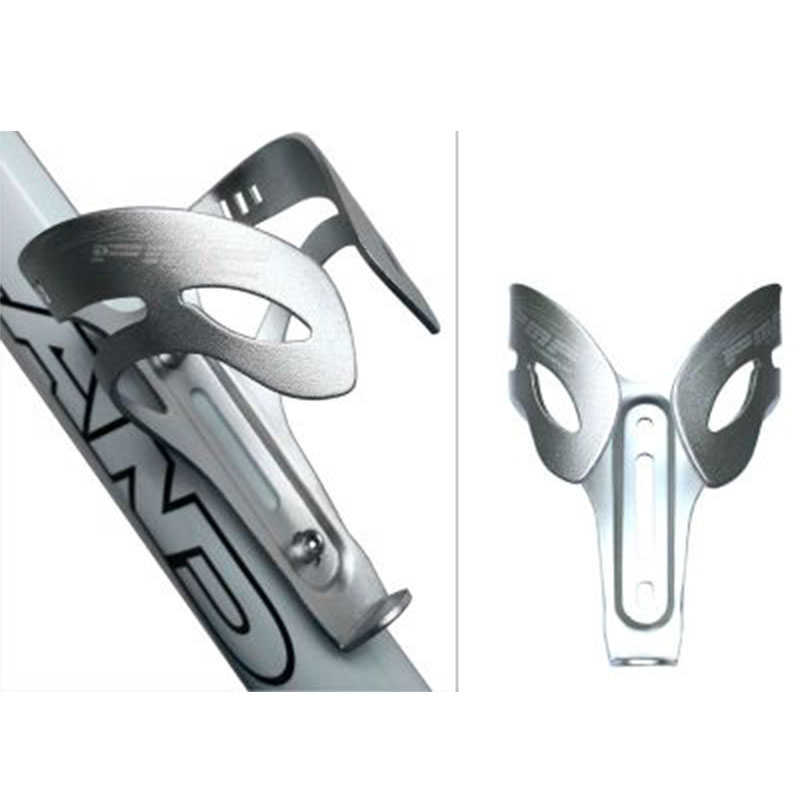 Bicycle Water Bottle Cage Aluminium Alloy Lightweight Bottle Holder Bracket Color:Silver