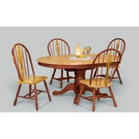Sunset Trading 48 Inch Round Dining Table with Butterfly Leaf