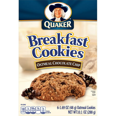 Quaker Breakfast Cookies Oatmeal Chocolate Chip, 6 (Oatmeal Chocolate Chip Cookie In A Mug)