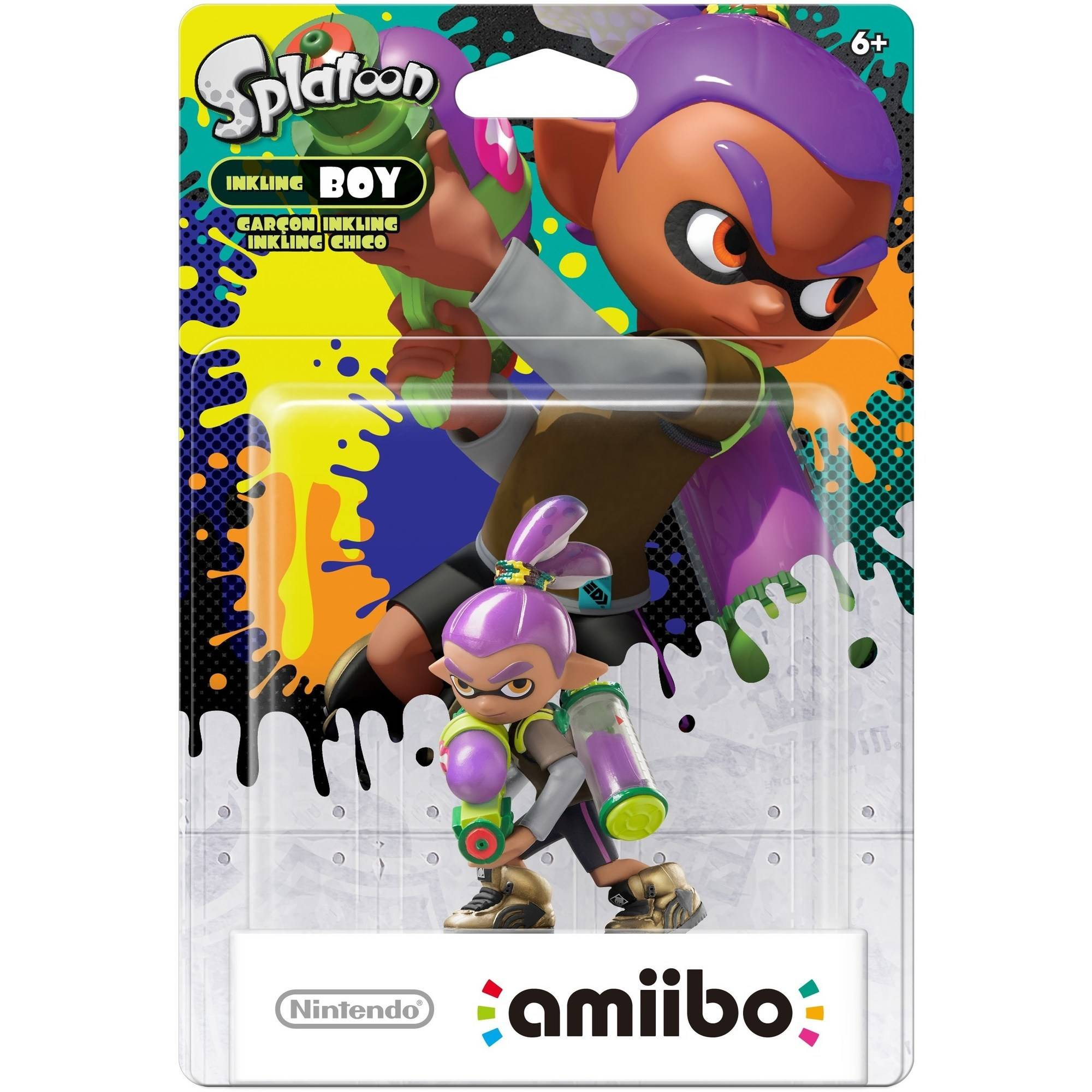 Inkling Boy Alternate Color Splatoon Series Amiibo 2 Pack Wii U
