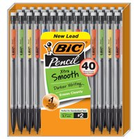 BIC Xtra Smooth No.2 Mechanical Pencil, Medium Point (0.7 mm) - Value Pack of 40 Pencils, Assorted Colors