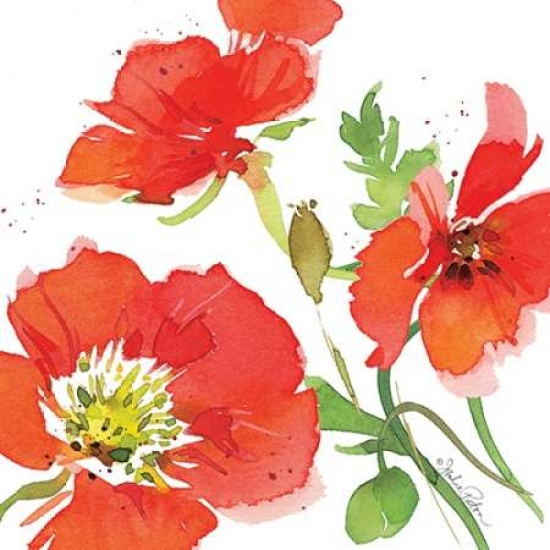 Red Poppies I Poster Print by Julie Paton