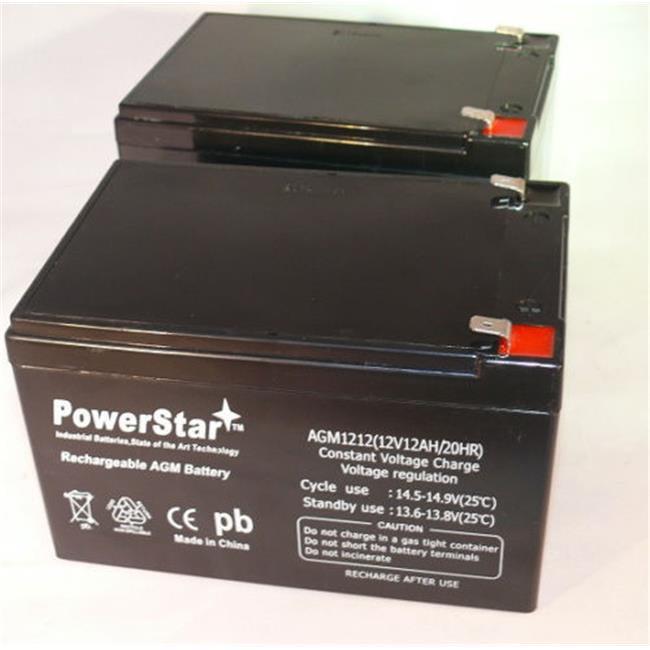 PowerStar AGM1212-2Pack-52 12V, 12Ah F2 UPS Battery For Opti 1400ES