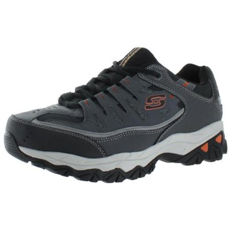 Skechers Sport Men's Afterburn Memory Foam Lace Up Sneaker,Charcoal,11.5 4E US