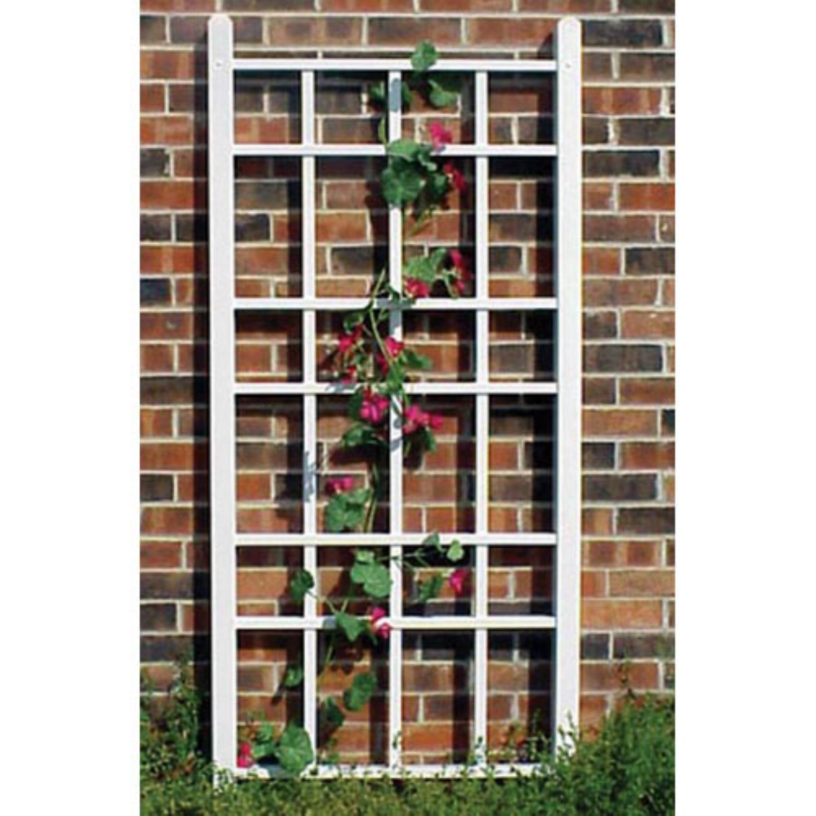 Dura-Trel Cottage 5.5-ft. Vinyl Wall Trellis White by Trellisses