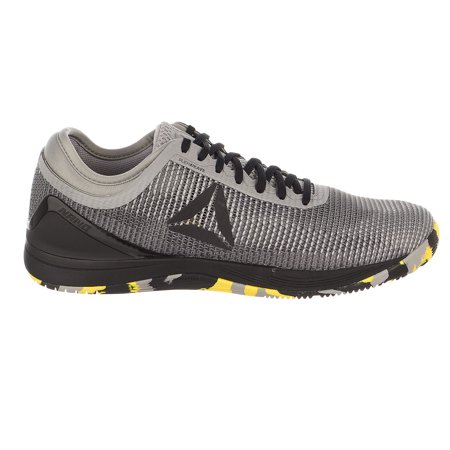 Reebok CROSSFIT Nano 8.0 Flexweave Cross Trainer SharkTin GreyAsh GreyBlackGo Yellow Mens 10
