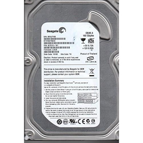 "Seagate ST3160215ACE Desktop 7200.3 160GB IDE 3.5"" Internal Hard Drive"