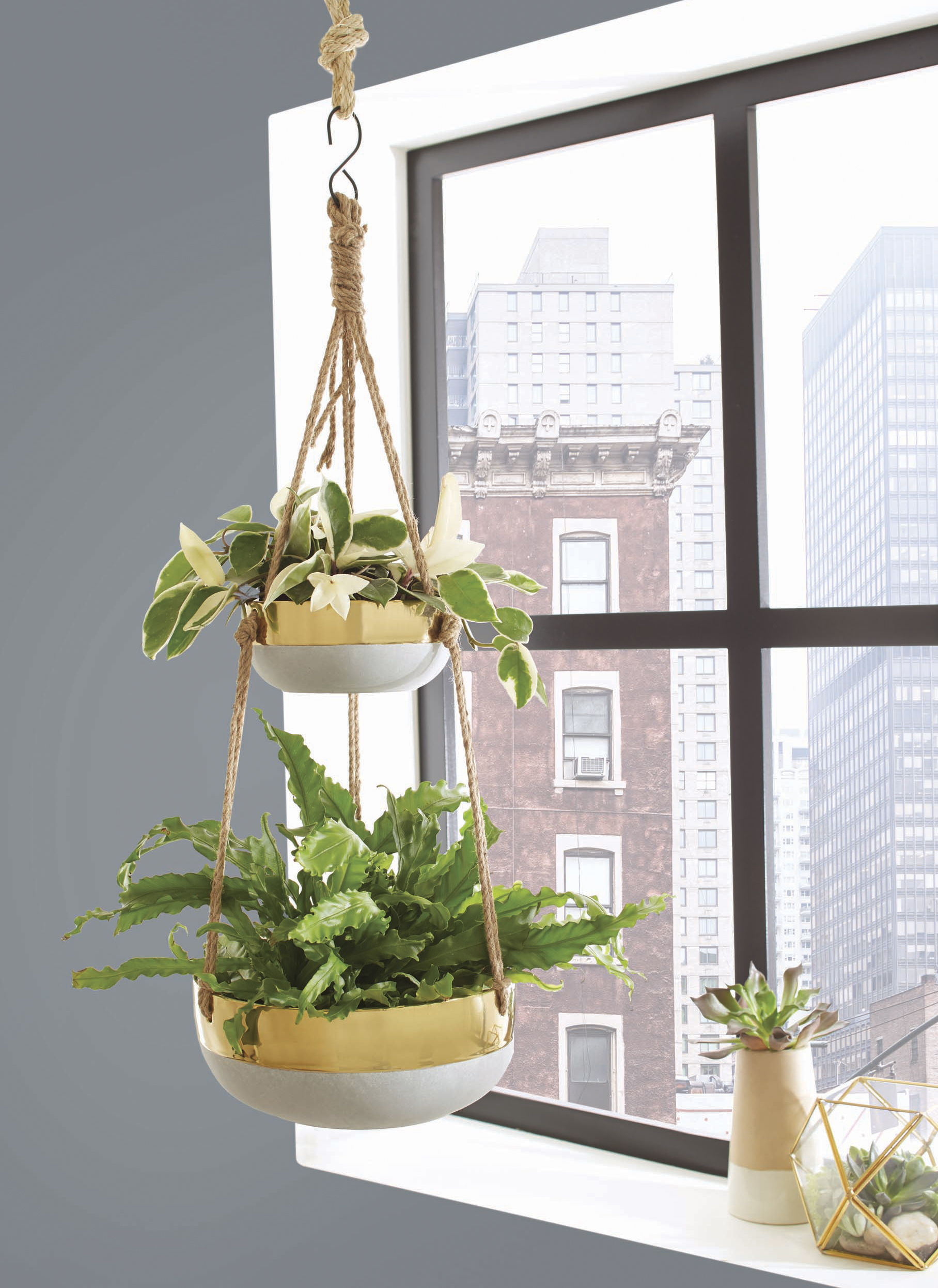 Better Homes and Gardens Faison Outdoor Double Hanging Planter by HK YIBO CERAMICS LIMITED