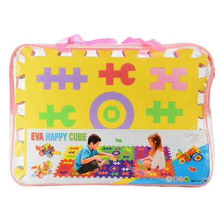 Children EVA Happy Cube Puzzle Play Mat Block Mat Jigsaw Puzzle Mat (6 Pieces a -