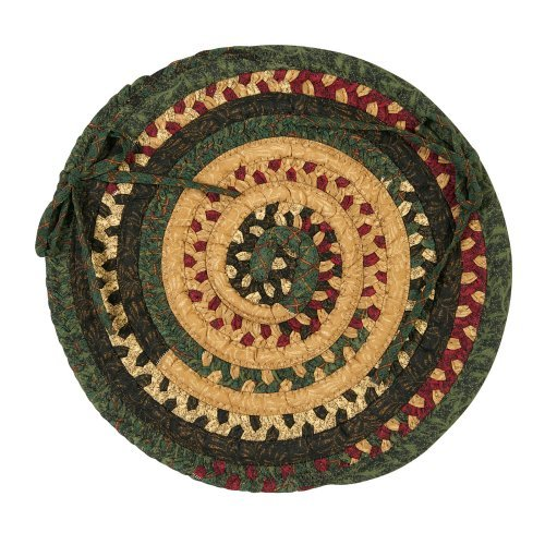 Colonial Mills Market Mix Chair Pad - Oval - 15 x 15 in. - Set of 4