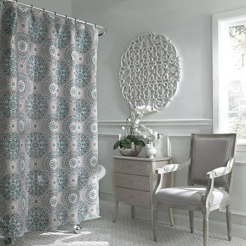 Carthe Boho Chic Fabric Shower Curtain