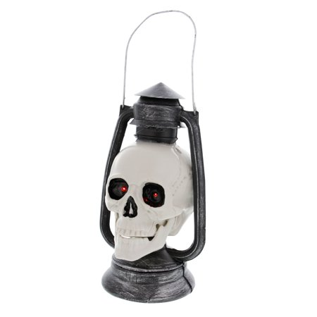 halloween haunters 9 tall animated and light up talking skull lantern prop decoration battery - Talking Skull Halloween