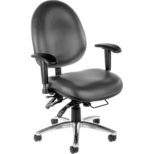 OFM 24/7 Big and Tall Vinyl Multi-Function Multi-Shift Task Chair, Multiple Colors