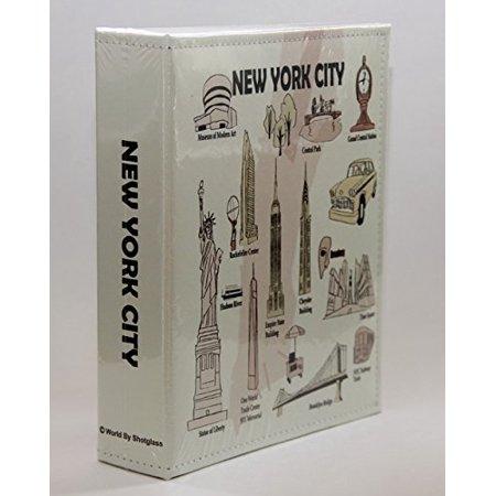 New York City Embossed Photo Album 200 Photos / 4x6
