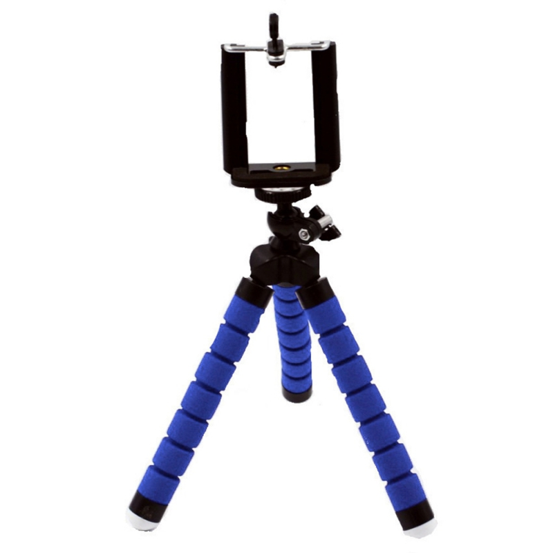 Octopus Style Flexible iPhone Tripod, Portable and Adjustable Mini Phone  Tripod Stand with Universal Clip for Cellphone Ipad Digital Camera