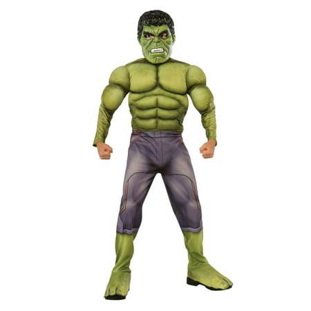 Boys Marvel Avengers Incredible Hulk Muscle Halloween Costume Age Of Ultron