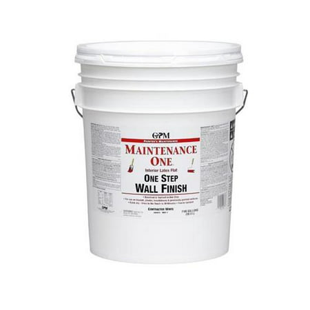 True Value Mfg MOC1-5G Maintenance One 5-Gallon Contractor White Interior Latex 1 Step Wall Finish - Latex Paint Halloween