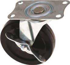 """INDUSTRIAL SWIVEL CASTER WITH BRAKE, 4"""""""