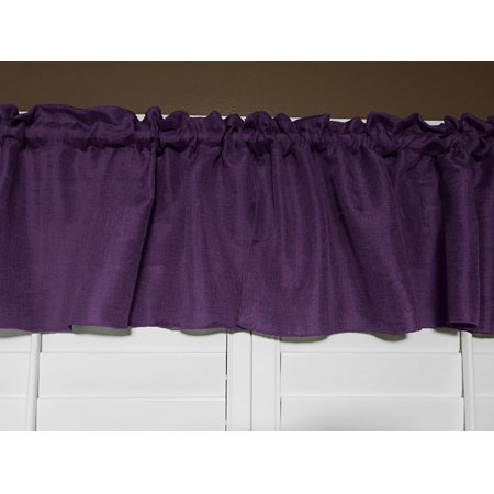 faux burlap window valance 58 wide eggplant
