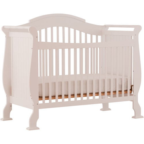 Storkcraft- Valentia Fixed-Side Convertible Crib, White
