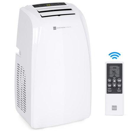 Best Choice Products 4-in-1 14,000 BTU Portable Air Conditioner Cooling and Heating Unit for Up to 650 Sq. Ft Rooms with 4 Casters, Remote Control, Window Vent Kit, LED (Best Vertical Window Air Conditioner)
