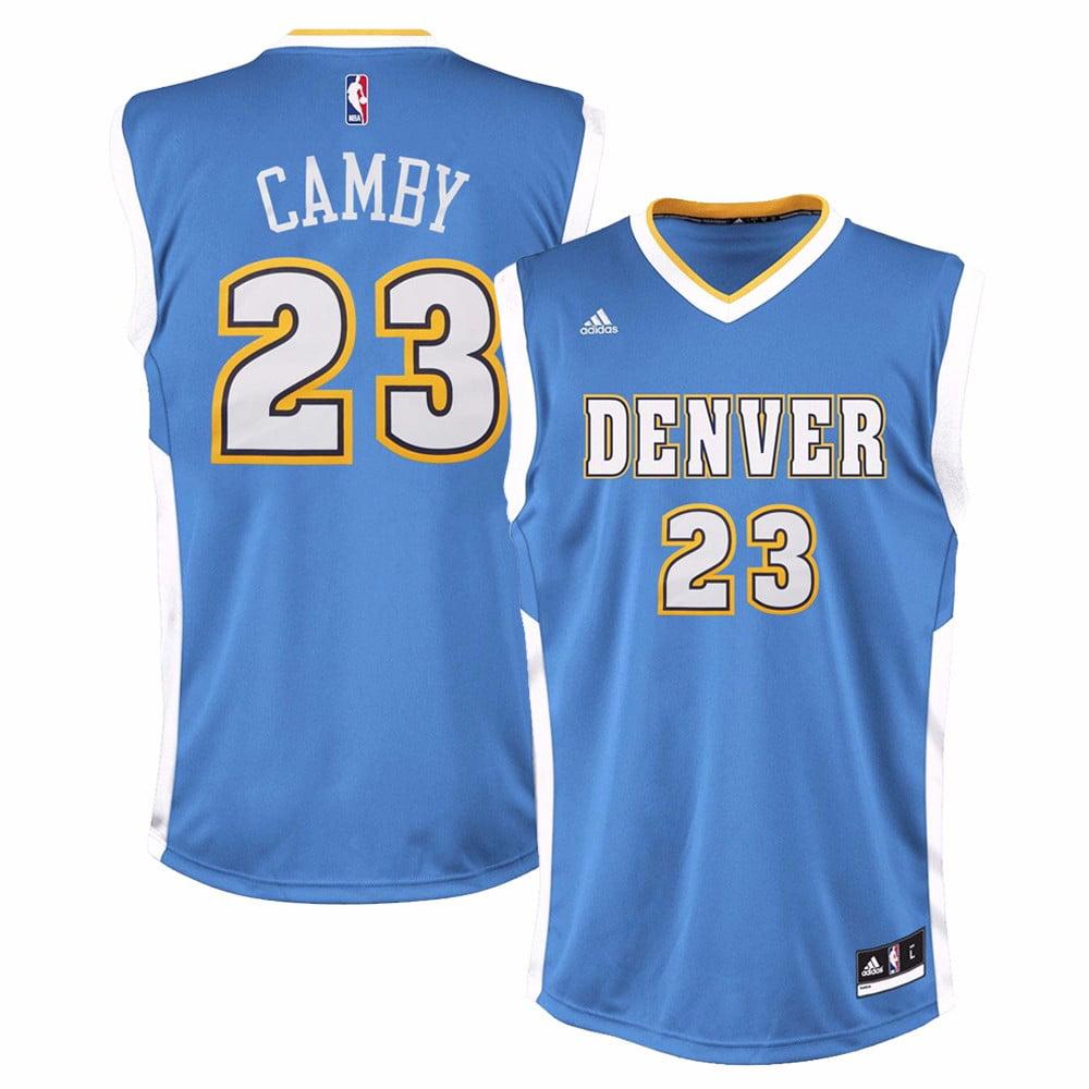Marcus Camby Denver Nuggets NBA Adidas Men's Blue Replica Jersey