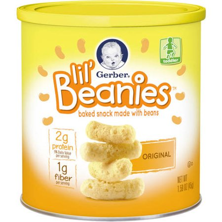 Gerber Lil' Beanies Toddler Original Baked Snack Made with Beans, 1.59 oz