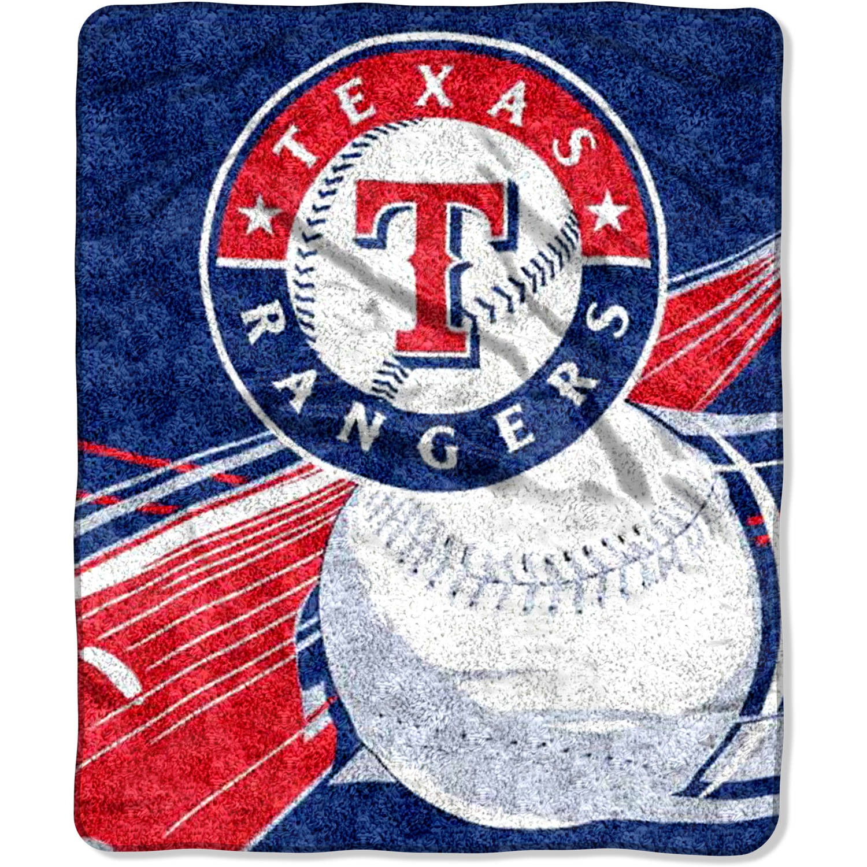 "MLB Texas Rangers ""Big Stick"" 50"" x 60"" Sherpa Throw"