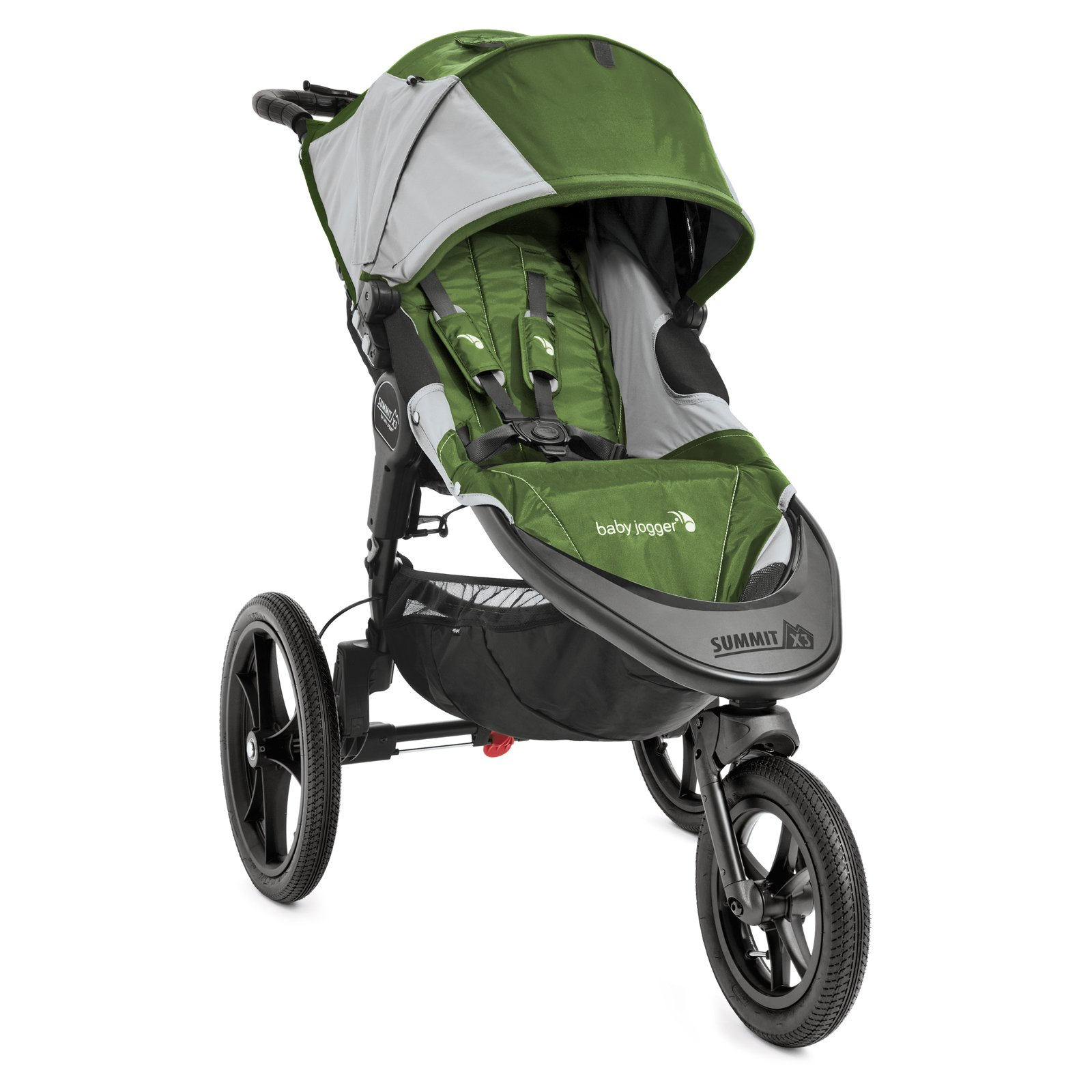 Baby Jogger Summit X3 Single Stroller - Green/Gray