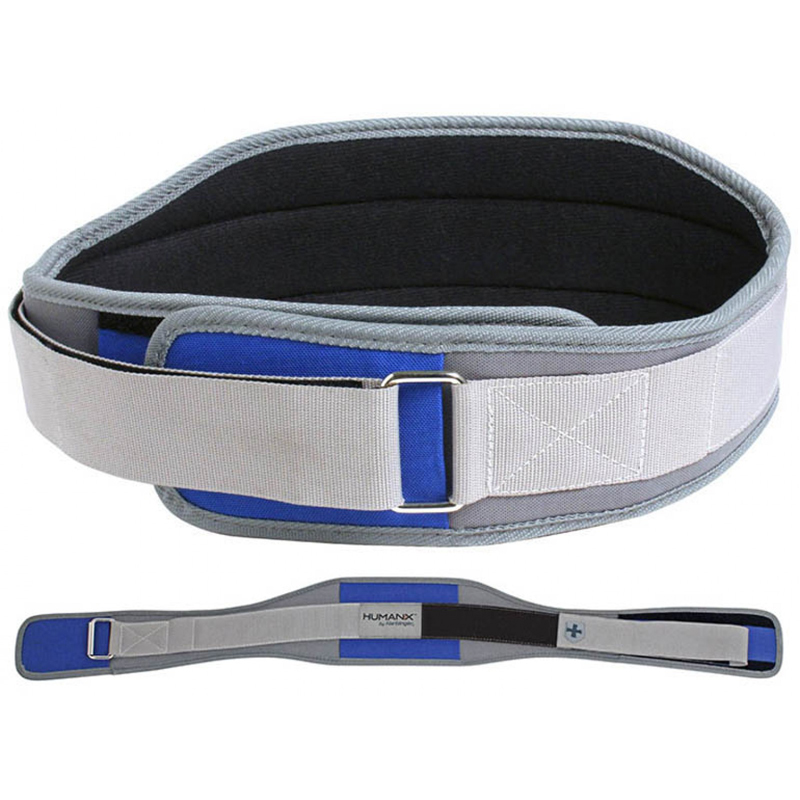 "Harbinger HumanX 5"" Competition CoreFlex Weight Lifting Belt - Gray/Blue"
