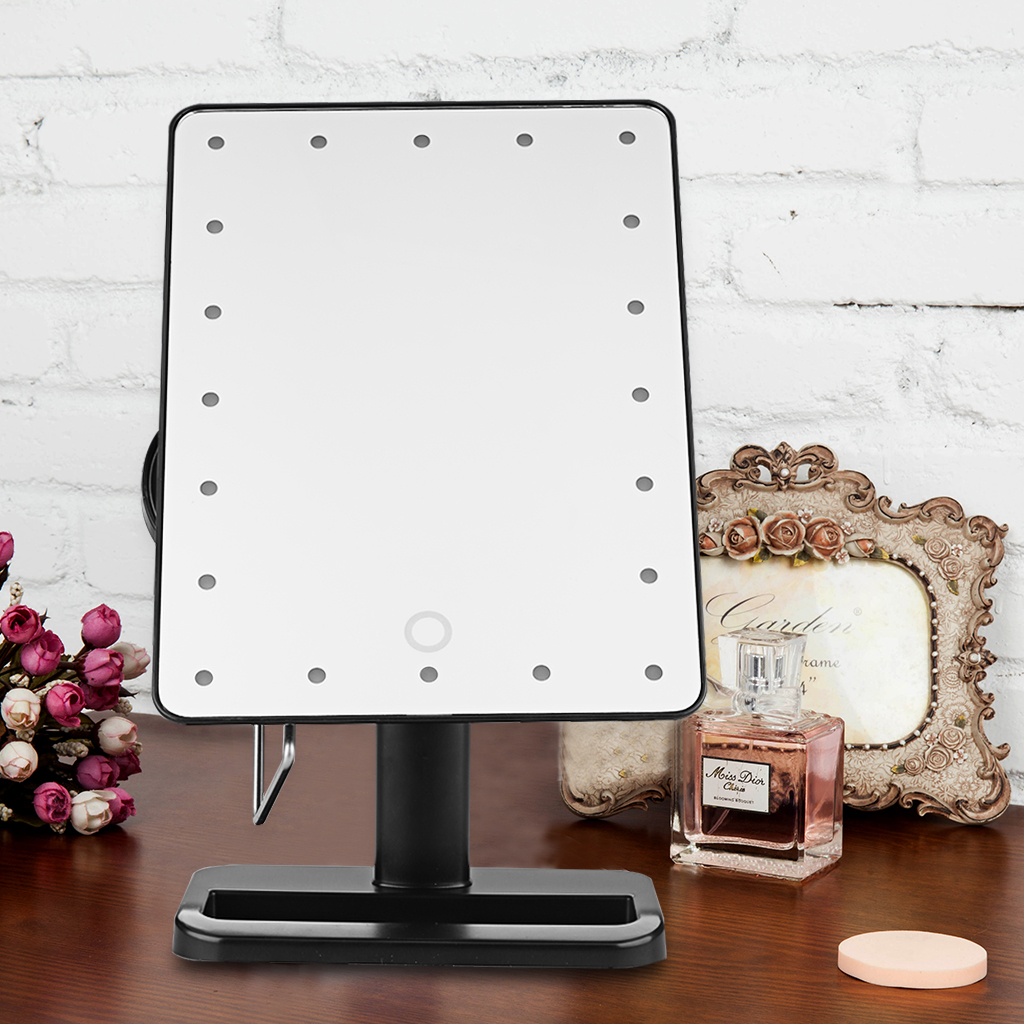 Ovonni Tabletop Vanity 10X Magnification Cosmetic Mirror 20 LED Lighted  Makeup Mirror   Walmart.com