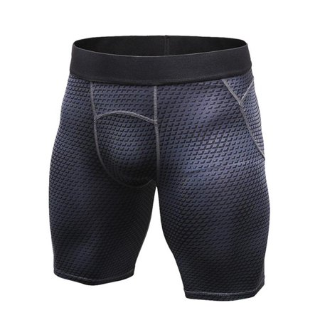 Mens Sports Compression Base Layer Shorts Quick-Dry Workout Stretch