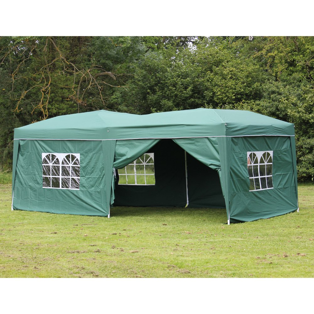 10 x 20 Palm Springs GREEN EZ Pop Up Canopy Gazebo Party Tent with 6 Side  sc 1 st  Walmart & 10 x 20 Palm Springs GREEN EZ Pop Up Canopy Gazebo Party Tent with ...