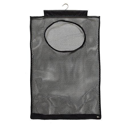 Wall Mounted Hanging Laundry Hamper Bag Dirty Pocket Mesh Grid Perspective Storage