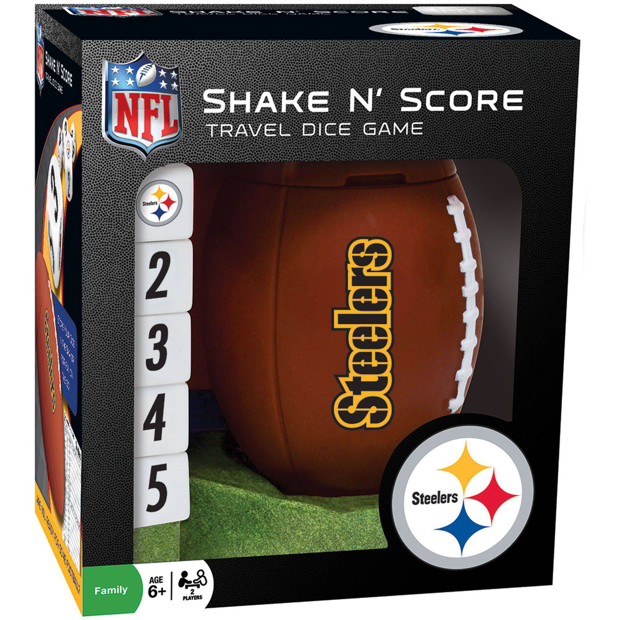 MasterPieces NFL Pittsburg Steelers Shake n' Score Dice Game