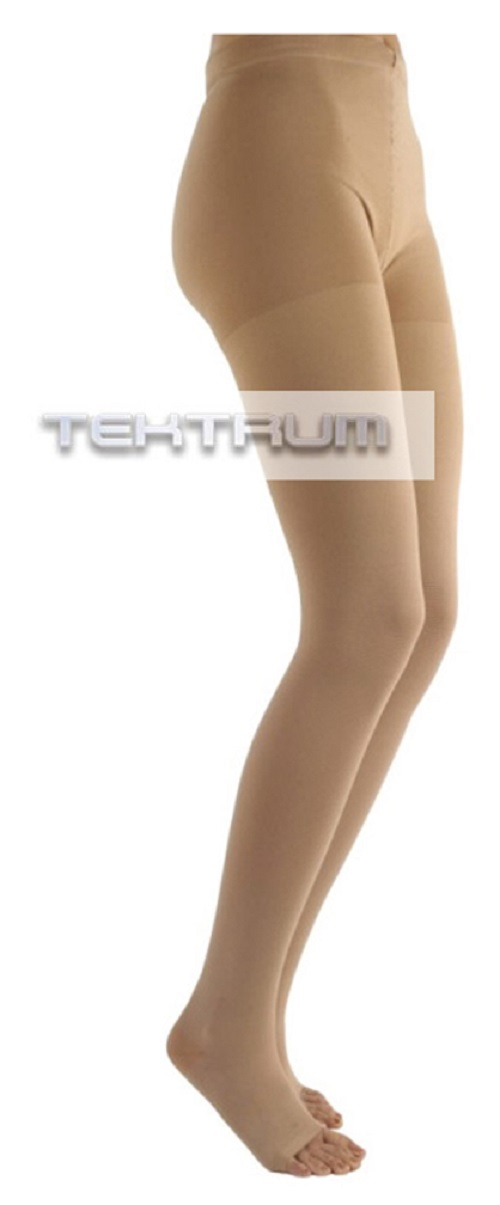 22a7827660cf6 Tektrum Waist High Firm Graduated Compression Pantyhose Medical Stockings  23-32mmhg for Men and Women - Open Toe, Beige, Large US/X-Large EU -  Walmart.com
