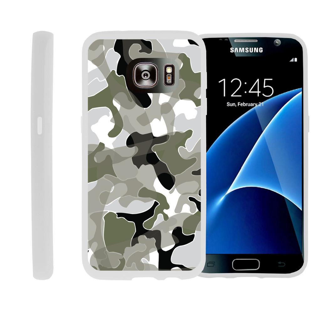 Flexible Case for Samsung Galaxy S6 Edge | SM-G925 Case [ Flex Force ] Lightweight Flexible Phone Case - Swamp Camo