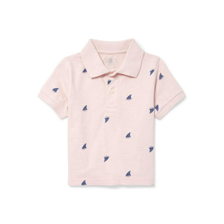 The Children's Place Short Sleeve Print Polo (Baby Boys & Toddler