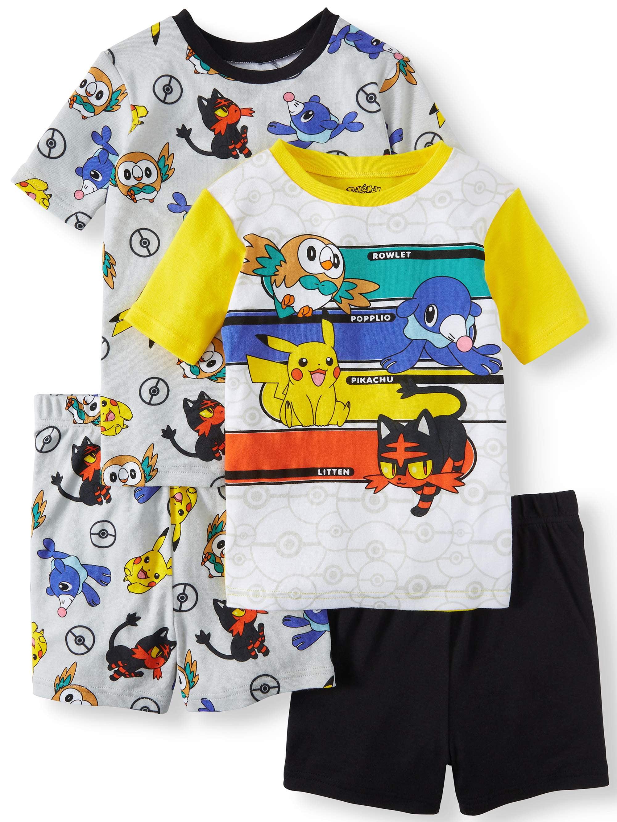 Boys' Pokemon 4 Piece Pajama Sleep Set (Little Boy & Big Boy)