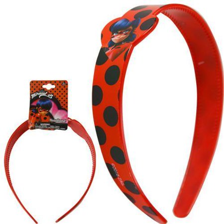 Party Favors Miraculous LadyBug Plastic Printed Wide Headband…