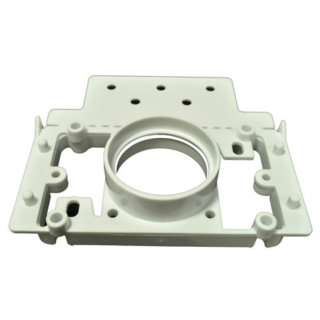 Central Vacuum PVC 2 Inch Pipe 3Way Mounting Plate Finished (New (4 Inch To 2 Inch Reducer Pvc)