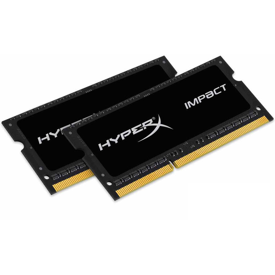 Kingston 16GB 2133MHz DDR3L CL11 SODIMM (Kit of 2) 1.35V HyperX Impact Black Memory Module
