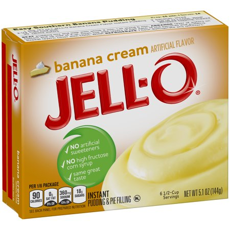 (5 Pack) Jell-O Instant Banana Cream Pudding & Pie Filling, 5.1 oz Box
