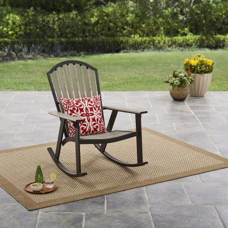 Mainstays Springview Hills Resin Outdoor Adirondack Rocking Chair - Buy 2 and Save