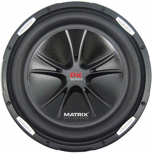"Matrix Mobilesound 12"" Dual Voice Coil Subwoofer, 1000W"