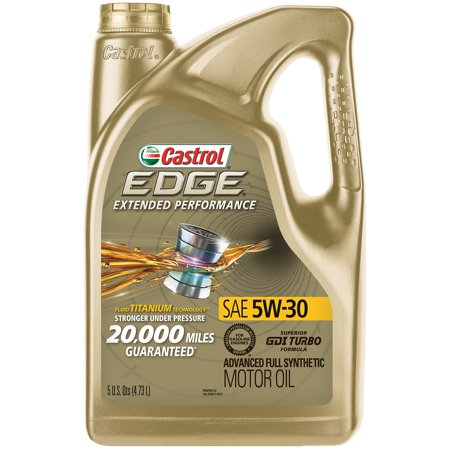 Castrol EDGE Extended Performance 5W-30 Advanced Full Synthetic Motor Oil, 5 (Whats The Best Car Oil)